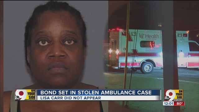 Ohio woman who missed bus is charged with stealing ambulance
