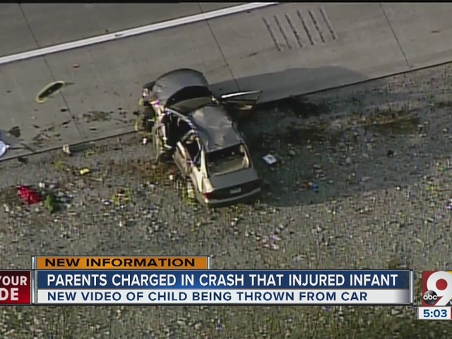 Parents charged in crash that injured infant
