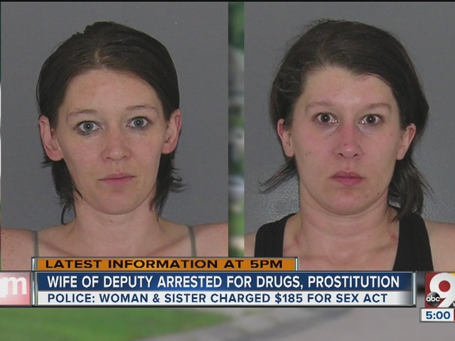 Wife of deputy charged with drugs, prostitution