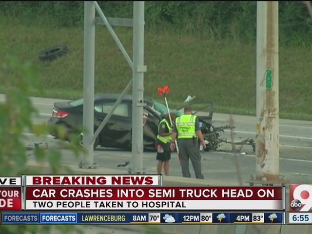 Rumpke driver, woman hurt in head-on I-275 crash