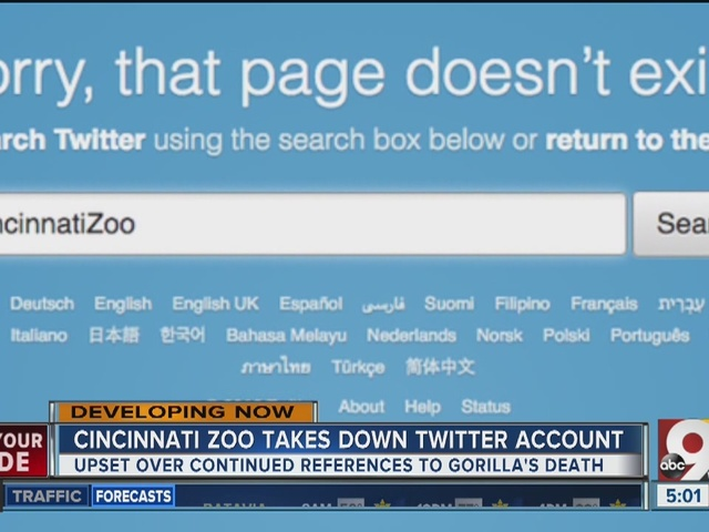 Cincinnati Zoo takes down Twitter account