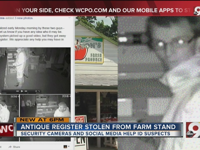 Antique register stolen from farm stand