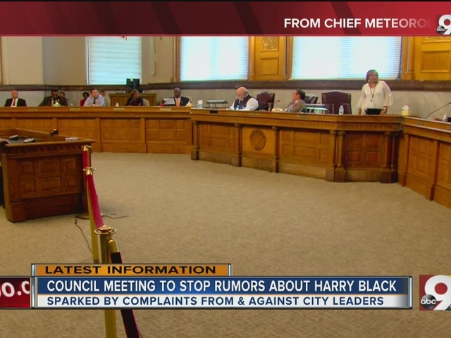 Council meeting to stop rumors about City Manager Harry Black
