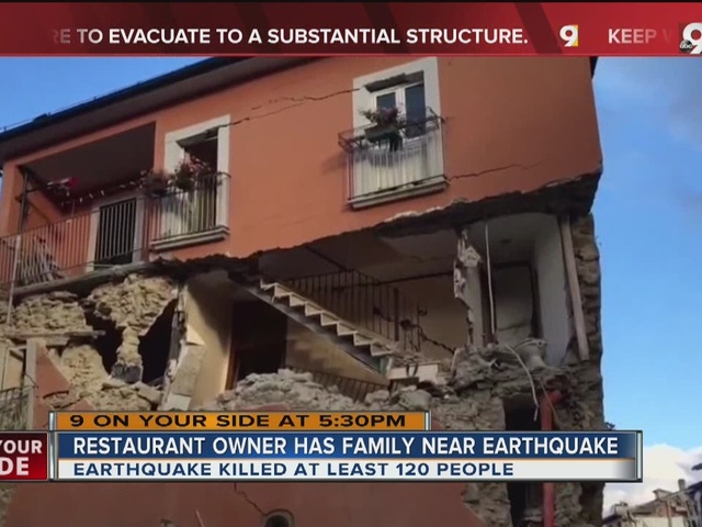 Italy earthquake hits home for local restaurant owner