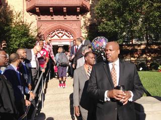 At 100 Rising, black men encourage CCPA students