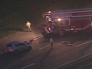 VIDEO: Car, motorcycle crash closes I-275
