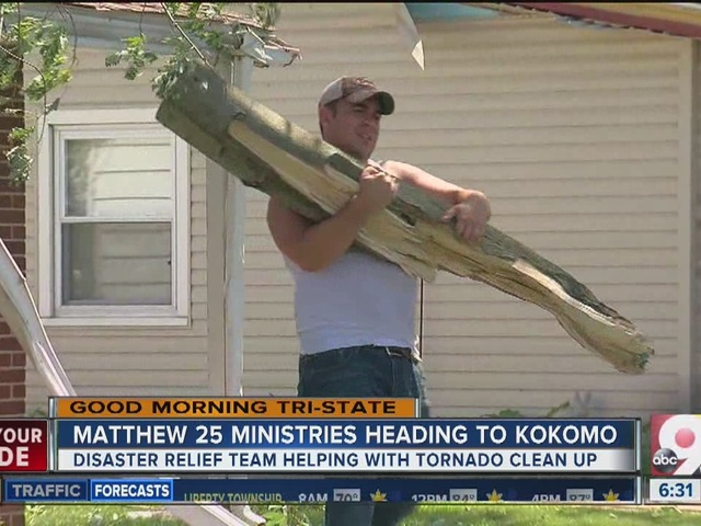 Matthew 25 Ministries taking supplies to tornado-striken Kokomo
