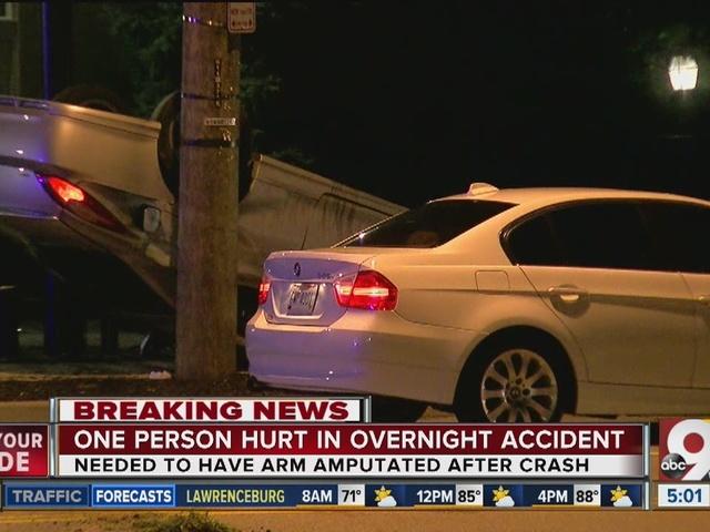 Uber driver's arm amputated in Evanston rollover crash