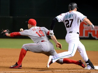 D'backs beat Reds on 2-out wild pitch in 11th