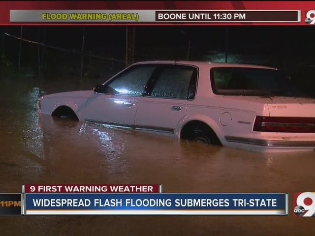 Widespread flash flooding submerges Tri-State