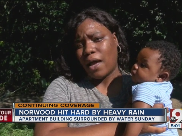 Long cleanup ahead for Norwood after Sunday's flooding