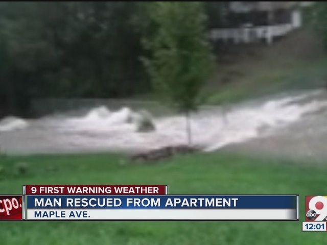 Man rescued from Norwood apartment amid torrent of water