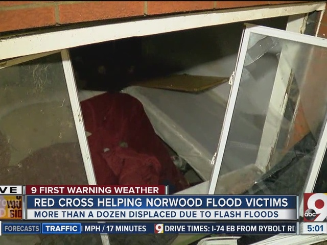 Red Cross helping Norwood flood victims