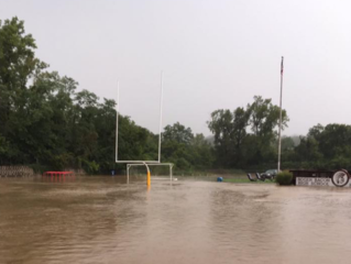 Floods leave Roger Bacon football field a mess