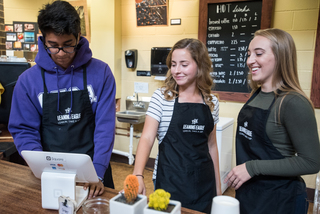 A gourmet cup of joe awaits these high schoolers