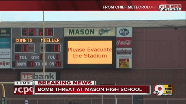 Bomb threats forces evacuations of two OH high school football games