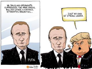 EDITORIAL CARTOON: Trump finds his role model