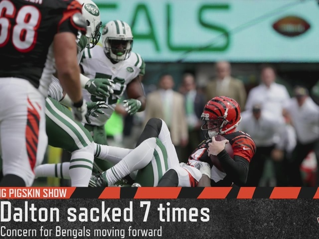 Cincinnati Bengals QB Andy Dalton was sacked 9 times by the Jets in week…