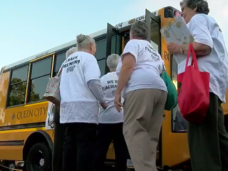 Busload of nuns protests Ohio voter purge