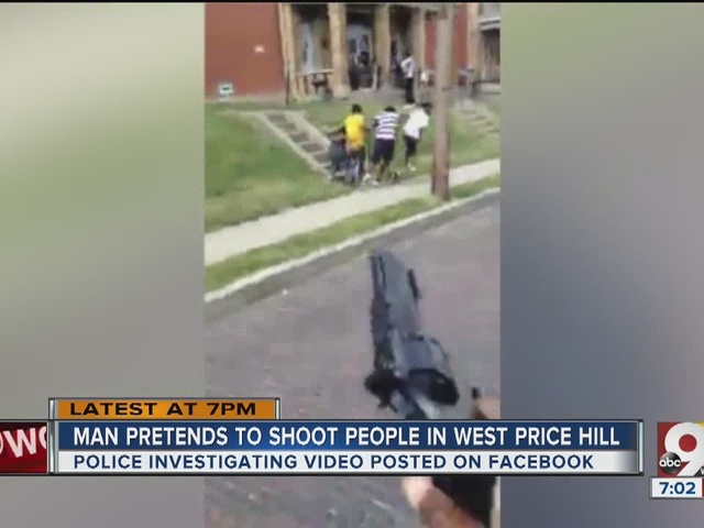 Man pretends to shoot people in West Price Hill