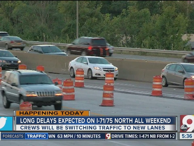 Expect traffic headaches on northbound I-71/75 in Northern