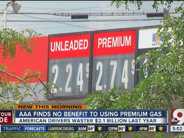 AAA finds no benefit to using premium gas when regular required