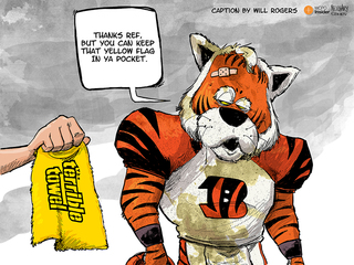 CAPTION THIS: Hey, Bengals, need a towel?