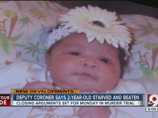 Jury sees photos of beaten, starved 2-year-old Glenara Bates during…