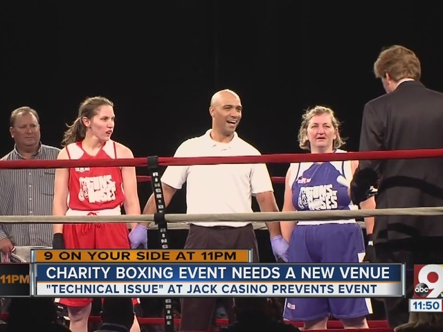 Charity boxing event needs new venue