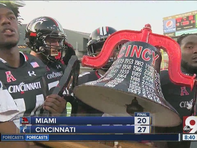 UC brings home Victory Bell for 11th straight year