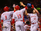 Votto, Duvall team up to crush Cardinals 15-2