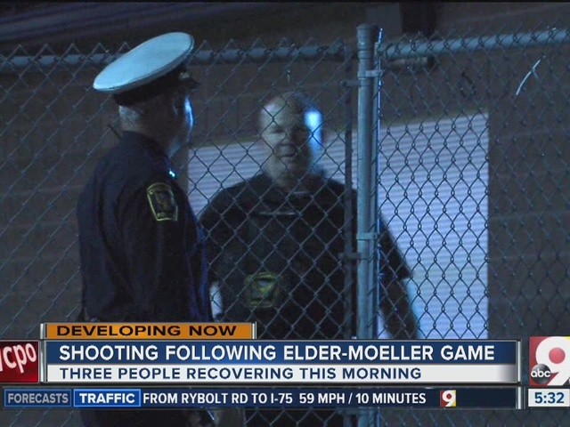 Shooting wounds three after Elder-Moeller game