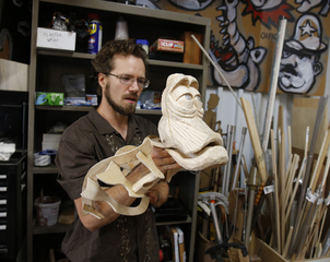 Puppet maker does things the old-fashioned way