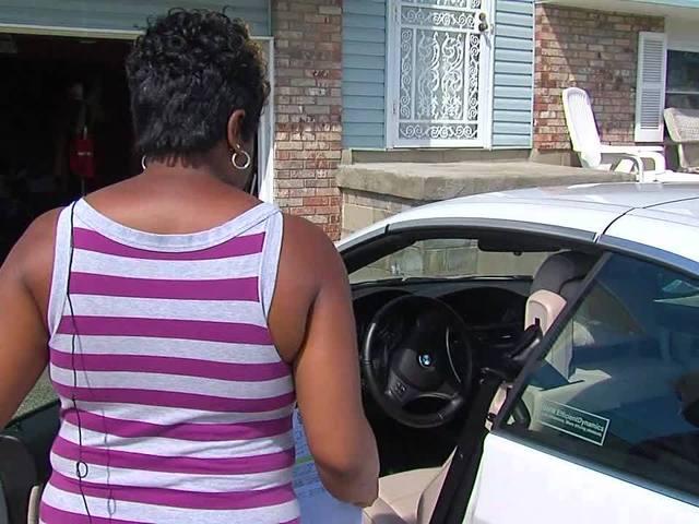 Woman locked inside her BMW