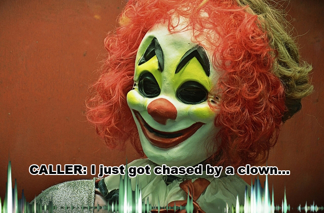 Clown chases woman audio: Franklin, Ohio woman calls police, says clown…