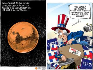 EDITORIAL CARTOON: Mars or bust!