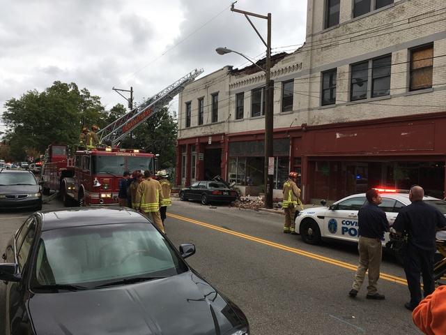 Partial building collapse injures 4 in Covington