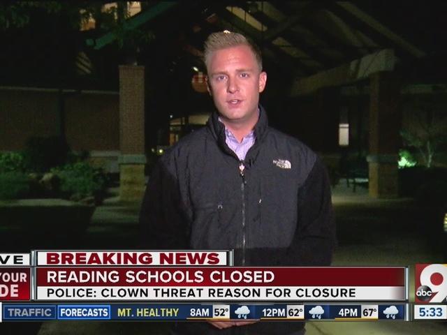 Clown threat closes Reading Community Schools