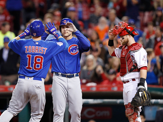 Zobrist powers Cubs to 7-3 win over Reds