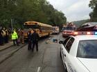 PD: 4 kids hospitalized after school bus crash
