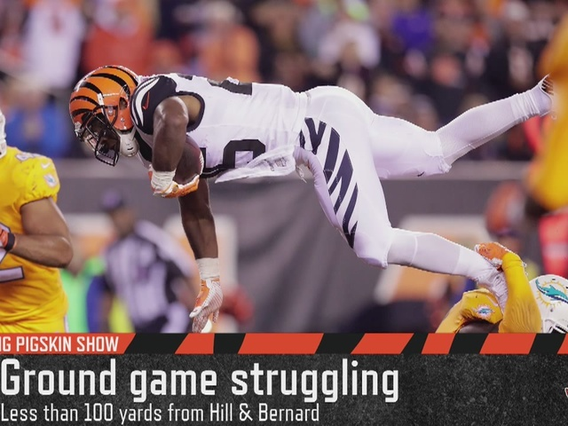 Cincinnati Bengals ground game struggles in win over Miami - Flying…
