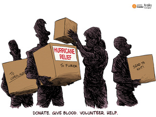 EDITORIAL CARTOON: Give help