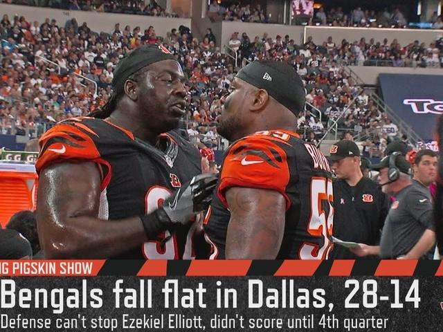 Cincinnati Bengals LB Vontaze Burfict couldn't stop Ezekiel Elliott -…