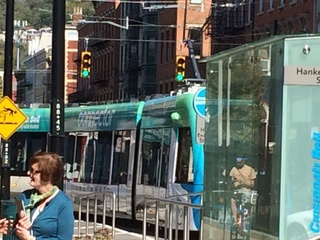 Car tried to beat the streetcar (and lost)