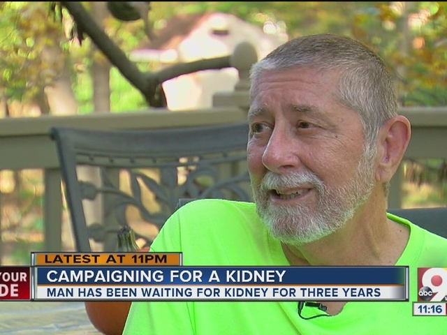 Campaigning for a kidney