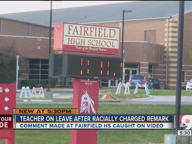 Teacher on leave after racially charged remark