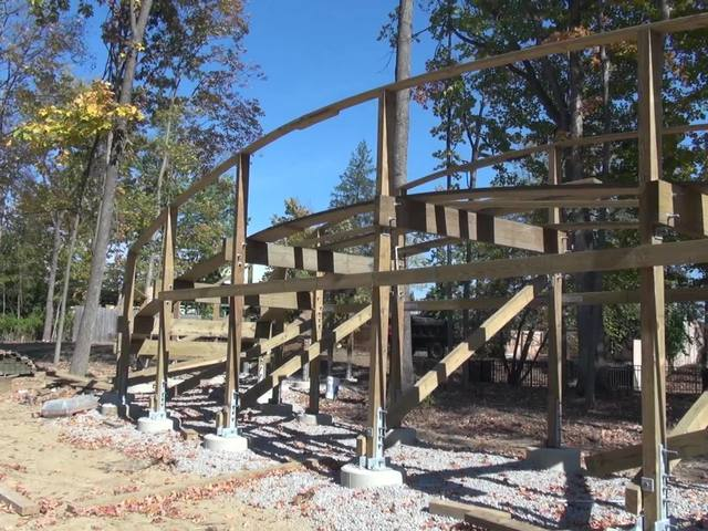 See Mystic Timbers construction in progress