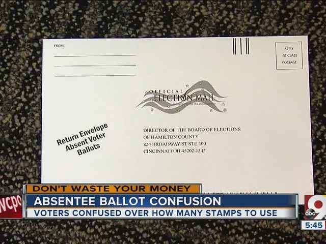 Dumb Confusing Postage For Absentee Ballots Wcpo