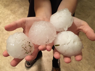 Golf ball-sized hail hammers Tri-State