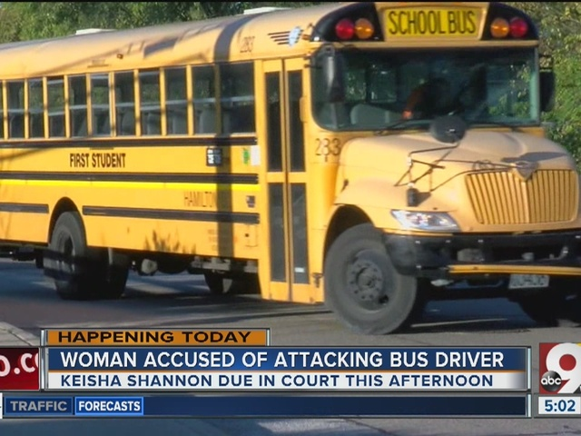 Woman accused of attacking school bus driver